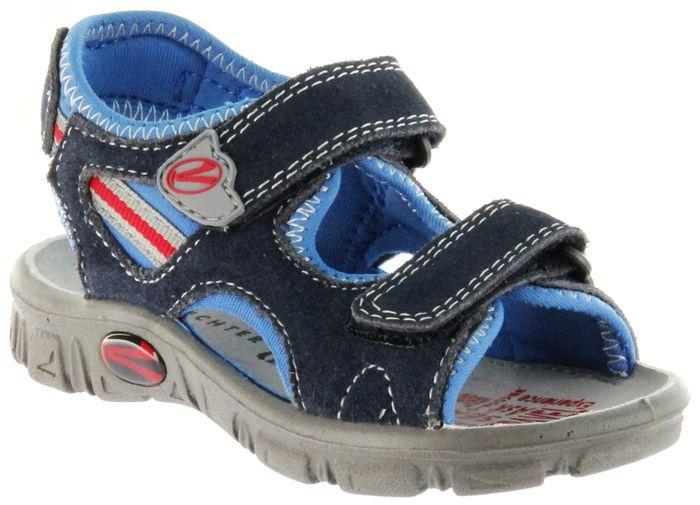 Richter Kinder Sandaletten Outdoor blau Lederdeck Jungen Schuhe 8105-142-7201 Adventure