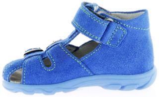 Richter Kinder Lauflerner-Sandalen blau Velourleder Jungen Schuhe 2104-141-6911 Terrino – Bild 7