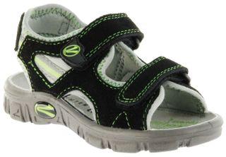Richter Kinder Sandaletten Outdoor schwarz Lederdeck Jungen-Schuhe 8105-141-9901 Adventure