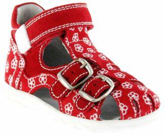 Richter Kinder Lauflerner-Sandalen rot Velour Mädchen Schuhe 2103-143-4111 Terrino – Bild 1