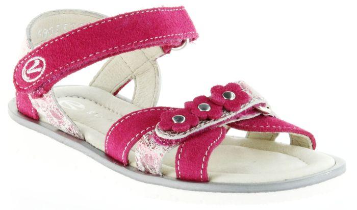 Richter Kinder Sandaletten pink Velour Mädchen Schuhe 5801-142-3500 Levia