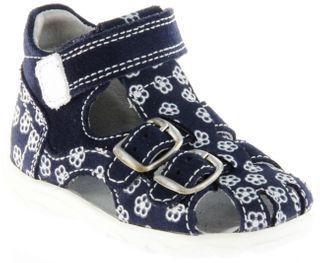 Richter Kinder Lauflerner-Sandalen blau Velour Mädchen Schuhe 2103-143-7202 Terrino – Bild 1