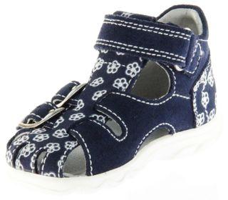 Richter Kinder Lauflerner-Sandalen blau Velour Mädchen Schuhe 2103-143-7202 Terrino – Bild 8