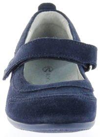 Richter Kinder Ballerinas blau Velour Klett Mädchen Schuhe 3412-141-7200 Adele – Bild 9