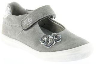 Richter Kinder Ballerinas-Spangenschuh Leder grau Mädchen-Schuhe 3010-141-6101 Dandi