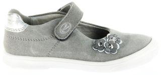 Richter Kinder Ballerinas-Spangenschuh Leder grau Mädchen-Schuhe 3010-141-6101 Dandi – Bild 2