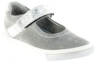 Richter Kinder Ballerinas-Spangenschuh Leder grau Mädchen-Schuhe 3112-142-6100 Fedora – Bild 1