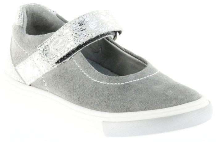 Richter Kinder Ballerinas-Spangenschuh Leder grau Mädchen Schuhe 3112-142-6100 Fedora