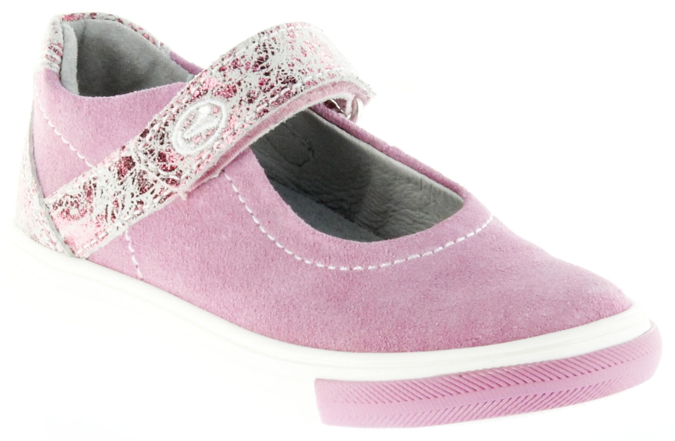 Richter Kinder Ballerinas pink Velour Klett Mädchen Schuhe 3112 142 3110 Fedora