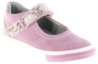 Richter Kinder Ballerinas pink Velour Klett Mädchen Schuhe 3112-142-3110 Fedora – Bild 1