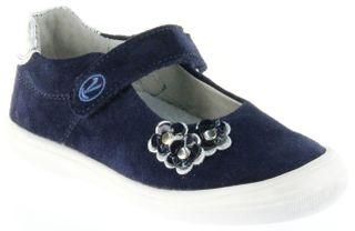 Richter Kinder Ballerinas-Spangenschuh Leder blau Mädchen-Schuhe 3010-141-7201 Dandi