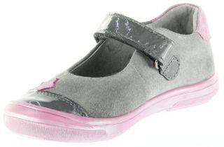 Richter Kinder Ballerinas Velourleder grau Klett Mädchen Schuhe 3013-141-6401 Dandi – Bild 8