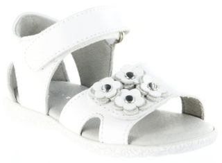 Richter Kinder Lauflerner-Sandalen weiß Glattleder Mädchen Schuhe 2201-141-0400 Sissi S