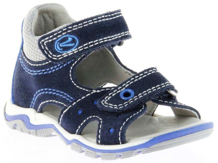 Richter Kinder Lauflerner-Sandalen blau Velourleder Jungen Schuhe 2301-141-7201 Jumbo