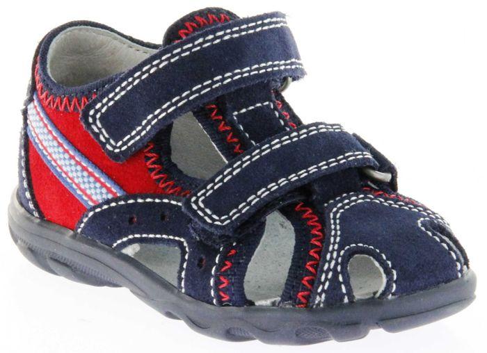 Richter Kinder Lauflerner-Sandalen blau Velourleder Jungen Schuhe 2114-141-7201 Terrino