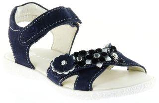 Richter Kinder Sandaletten blau Velourleder Mädchen Schuhe 5004-141-7201 atlantic Sissi S – Bild 1