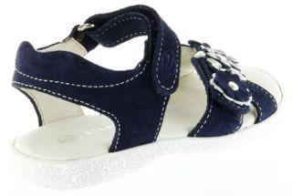 Richter Kinder Sandaletten blau Velourleder Mädchen Schuhe 5004-141-7201 atlantic Sissi S – Bild 3