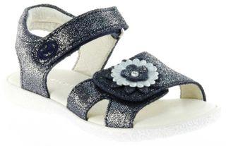 Richter Kinder Sandaletten blau Glitzervelour Mädchen Schuhe 5006-142-7202 atlantic Sissi S – Bild 1