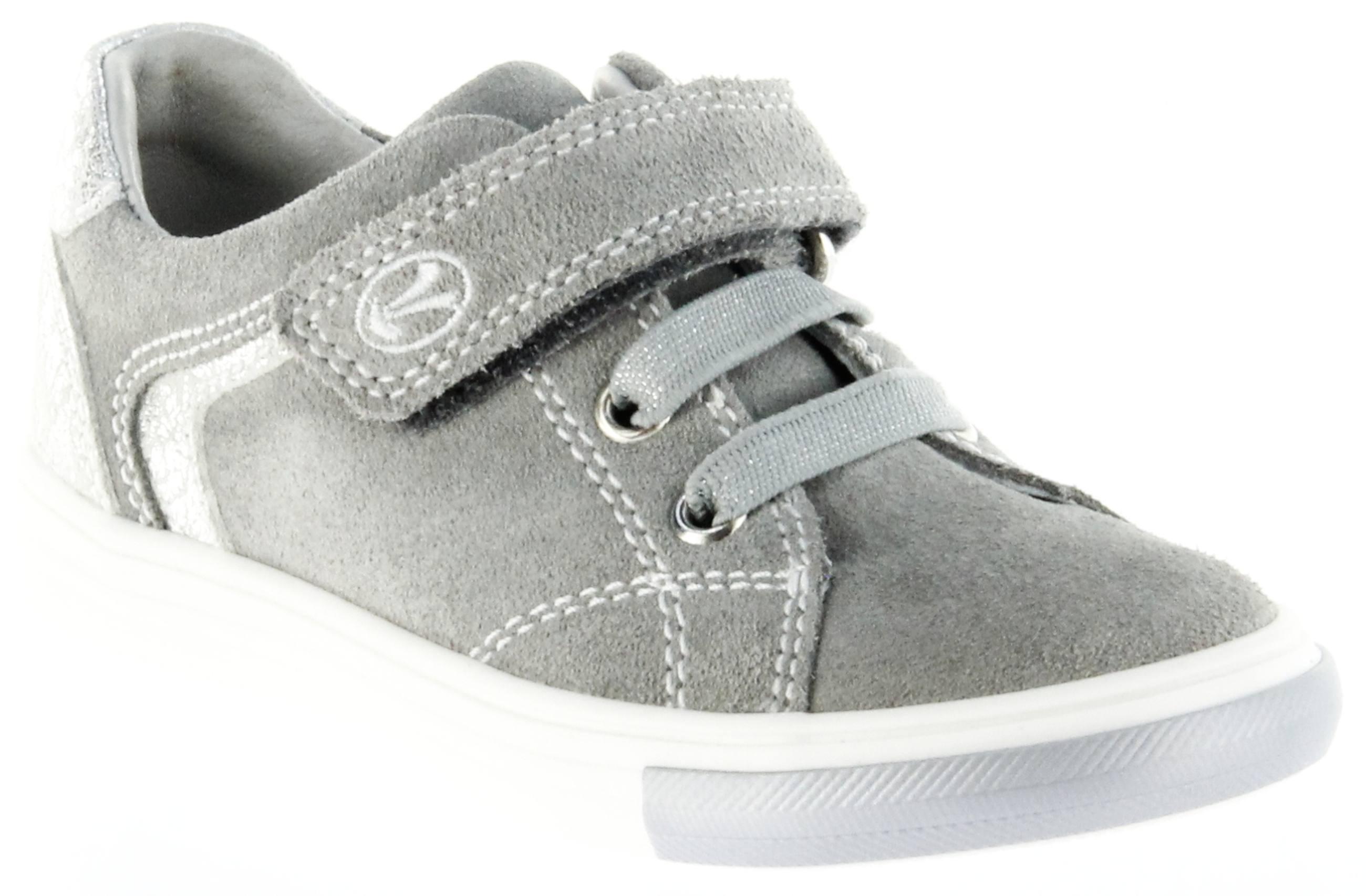 Richter Kinder Halbschuhe Sneaker grau Velourleder Mädchen