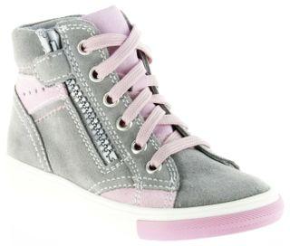 Richter Kinder Halbschuhe Sneaker grau Velourleder Mädchen-Schuhe 3148-141-6101 rock Fedora – Bild 1