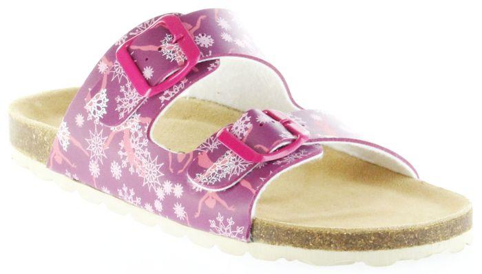 ÖkoWalk Bios Sandalen Hausschuhe Lederdeck pink leicht non-marking Sohle Kinder Mädchen Schuhe Dancer fuchsia