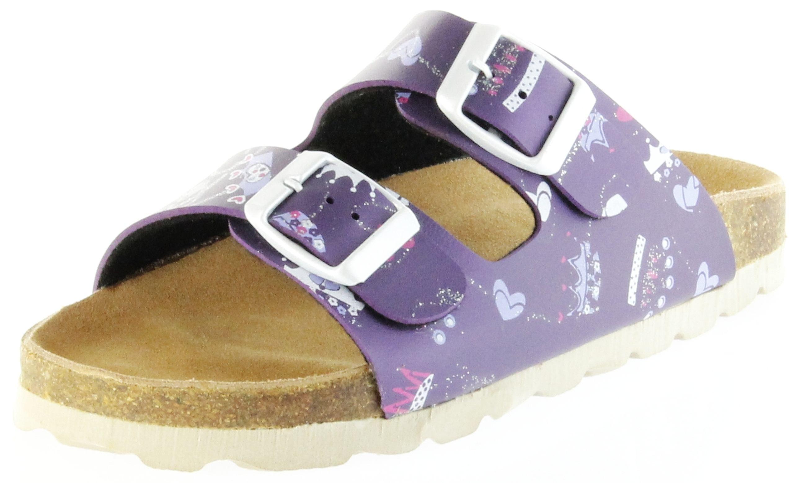 Schuhe mit lila sohle