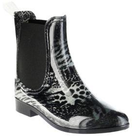 ConWay Gummi-Stiefelette schwarz Regenstiefel Damen Stiefelette Schuhe Iris – Bild 1