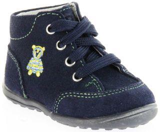 Richter Kinder Minis blau Velourleder Schnürer Jungen-Schuhe 0022-241-7200 atlantic Mini – Bild 1