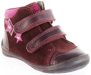 Richter Kinder Lauflerner rot Velourleder Mädchen Schuhe 0333-242-7401 port Regina S – Bild 1