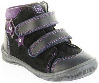 Richter Kinder Lauflerner lila Velourleder Mädchen Schuhe 0333-242-6501 eggplant Regina S – Bild 1