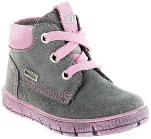 Richter Kinder Lauflerner grau Velourleder SympaTex Mädchen Schuhe 1124-242-6301 ash Info S – Bild 1