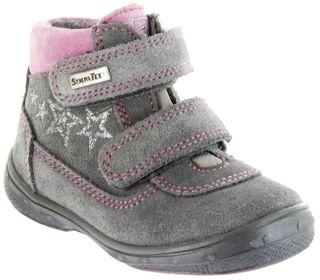 Richter Kinder Lauflerner grau Velourleder Warm SympaTex Klett Mädchen-Schuhe 1532-242-6301 ash Patty S – Bild 1