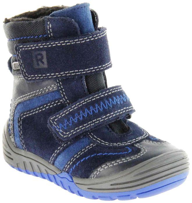 Richter Kinder Lauflerner-Stiefel Velour Warm blau SympaTex Jungen Schuhe 1034-241-7201 atlantic Marvis S