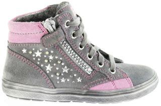 Richter Kinder Halbschuhe Blinkies Sneaker grau Velour Warm Mädchen-Schuhe WMS 4449-241-6301 ash Ilva – Bild 2