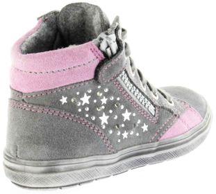 Richter Kinder Halbschuhe Blinkies Sneaker grau Velour Warm Mädchen Schuhe WMS 4449-241-6301 ash Ilva – Bild 3