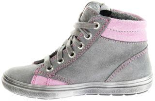 Richter Kinder Halbschuhe Blinkies Sneaker grau Velour Warm Mädchen-Schuhe WMS 4449-241-6301 ash Ilva – Bild 7