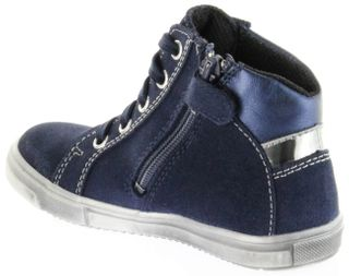 Richter Kinder Halbschuhe Sneaker blau Velour SympaTex Mädchen Schuhe 4547-241-7201 atlantic Vittoria – Bild 5