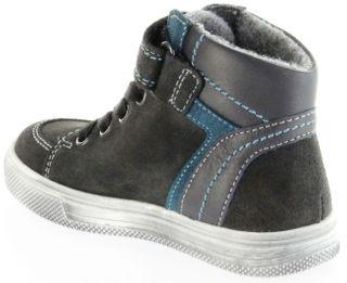 Richter Kinder Halbschuhe Sneaker grau Warm Leder Jungen Schuhe FitMI SympaTex 6546-241-6501 steel Ola – Bild 5