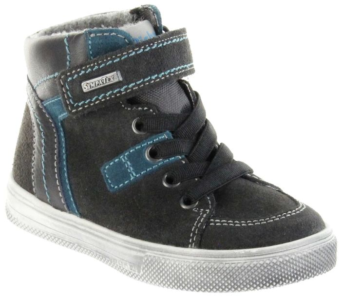Richter Kinder Halbschuhe Sneaker grau Warm Leder Jungen Schuhe FitMI SympaTex 6546-241-6501 steel Ola