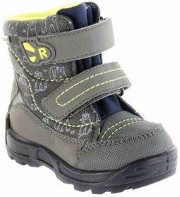 Richter Kinder Lauflerner-Stiefel Warm grau SympaTex Jungen Schuhe WMS 2033-242-6502 steel neon Freestyle – Bild 1