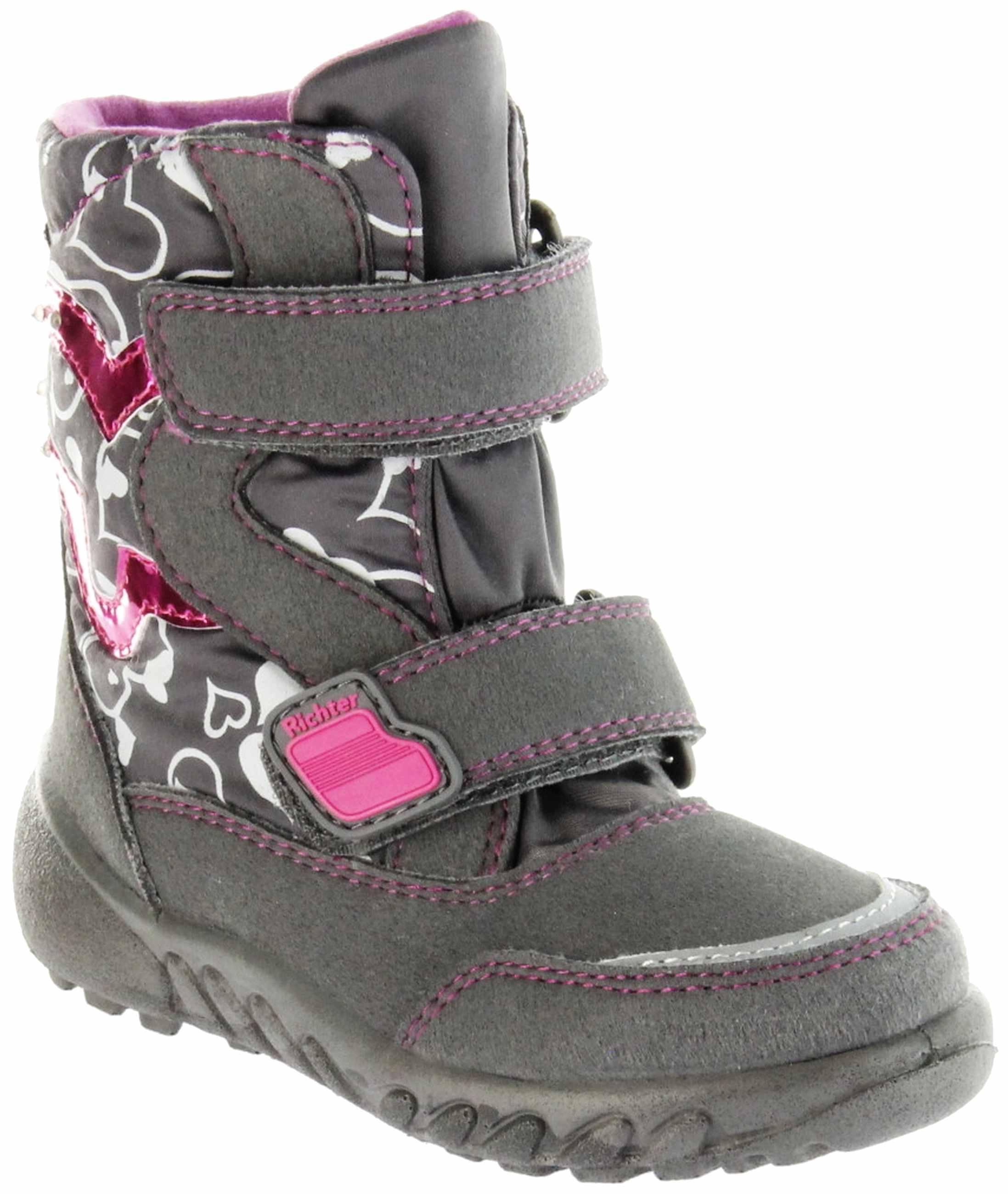competitive price 760e8 abb6f Richter Kinder Winter Boots Stiefel grau Warmfutter SympaTex Mädchen  Blinkie WMS 5137-241-6501 steel Husky