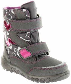 Richter Kinder Winter Boots Stiefel grau Warmfutter SympaTex Mädchen Blinkie WMS 5137-241-6501 steel Husky