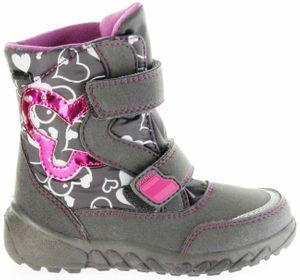 Richter Kinder Winter Boots Stiefel grau Warmfutter SympaTex Mädchen Blinkie WMS 5137-241-6501 steel Husky – Bild 2