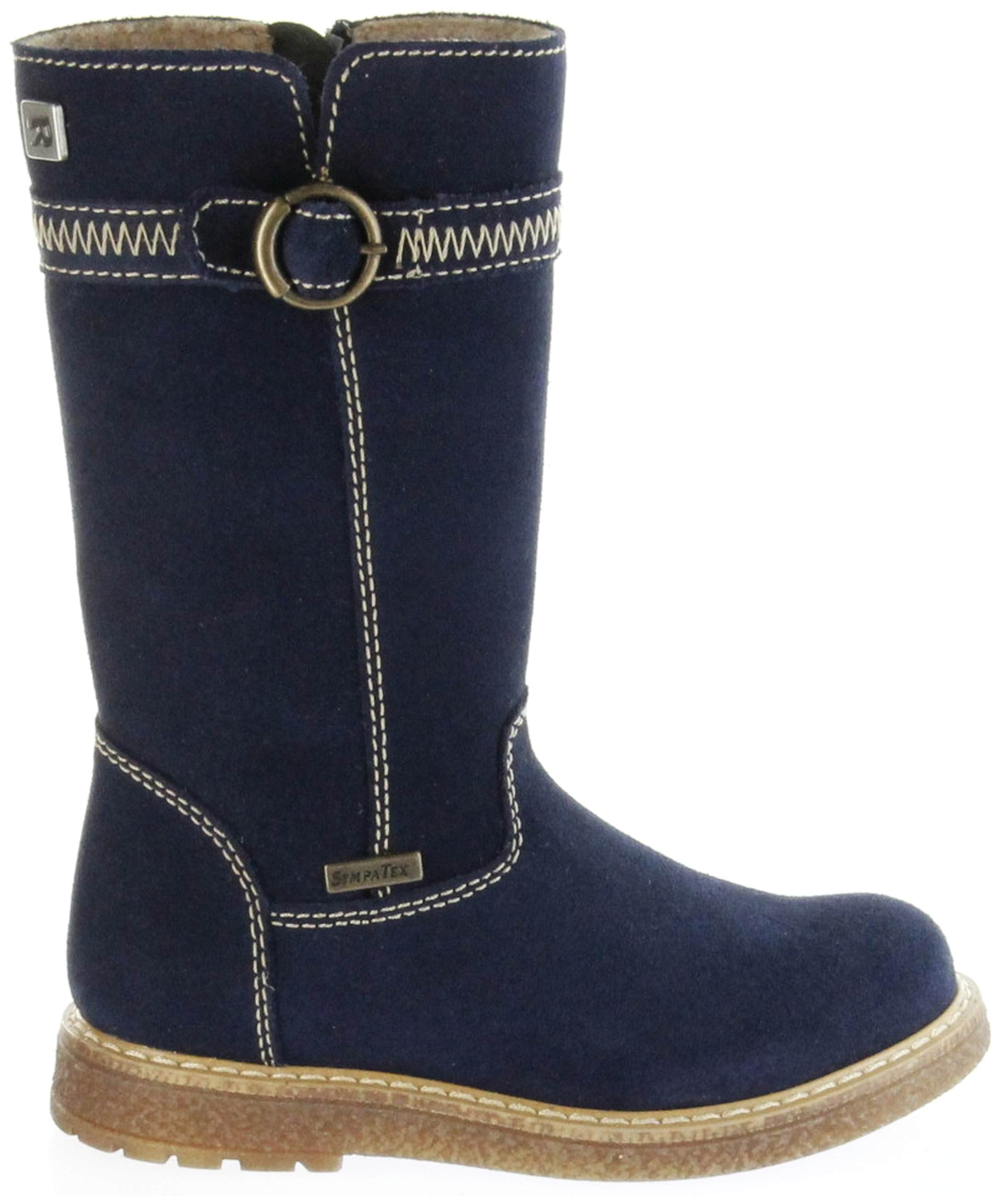 buy online 6ab42 4718a Richter Kinder Winter Stiefel blau Velourleder SympaTex Warm Mädchen  4752-241-7200 atlantic