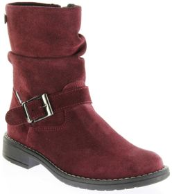 Richter Kinder Winter Stiefel rot Velourleder SympaTex Warm Mädchen 4251-241-7400 port Mary – Bild 1