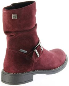 Richter Kinder Winter Stiefel rot Velourleder SympaTex Warm Mädchen 4251-241-7400 port Mary – Bild 3