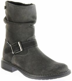 Richter Kinder Winter Stiefel grau Velourleder SympaTex Warm Mädchen 4251-241-6500 steel Mary – Bild 1