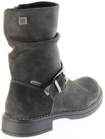 Richter Kinder Winter Stiefel grau Velourleder SympaTex Warm Mädchen 4251-241-6500 steel Mary – Bild 3
