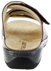 Hauer Wohlfühl-Pantoletten Damen rot Leder Wechselfußbett atmungsaktiv chromfrei rutschhemmende Sohle Klett 133852-568 rubin LISA13 – Bild 4