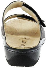 Hauer Wohlfühl-Pantoletten Damen grau Leder Wechselfußbett atmungsaktiv chromfrei rutschhemmende Sohle Klett 132271-806 LISA13 – Bild 4